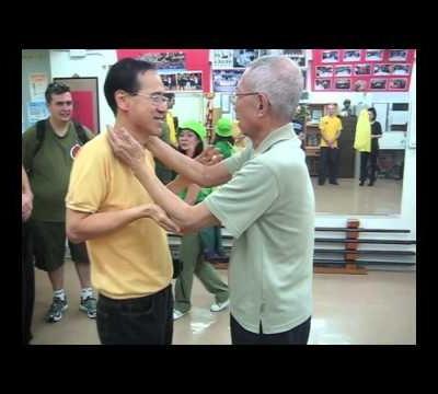 Chu Shong Tin Chisau with a late Ip Man student