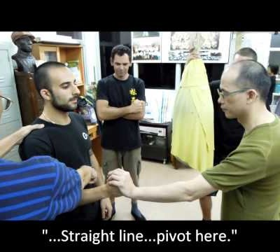 Penetrating Punch - with Pivoting and along a Straight Line (Chu Shong Tin Training Episodes #006)